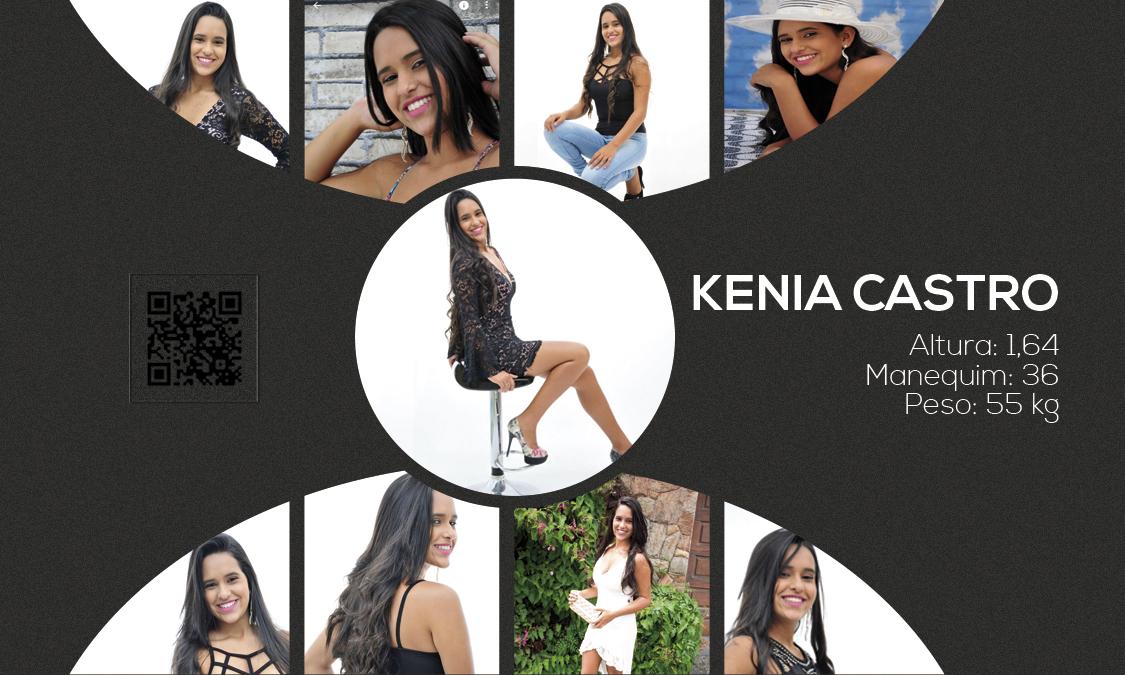 kenia - Cartão de visita para Kenia Castro